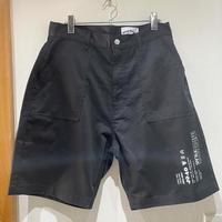 over print/baker half pants *WONDER VISITOR (black)