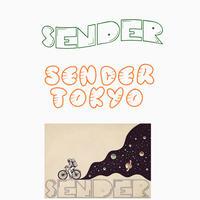 SENDER TOKYO STICKER PACK 3set