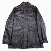 vintage euro pierre cardin design leather coat