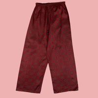 vintage euro satin pajama pants paisley
