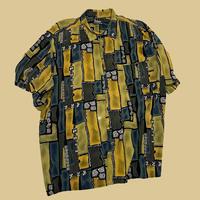vintage euro design rayon shirt