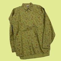 vintage euro paisley cotton shirt
