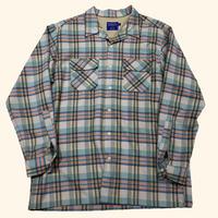 old PENDLETON check flannel shirt
