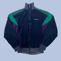 vintage euro 70s adidas velour jacket