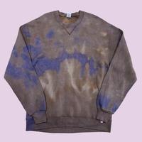 vintage us 80s bleach remake sweat USA製 (poly cotton)