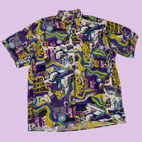 vintage euro cotton print art shirt