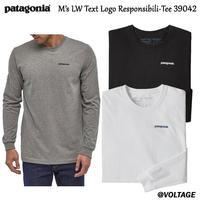 パタゴニア patagonia M's LW Text Logo Responsibili-Tee 39042 メンズ・ロングスリーブ・テキスト・ロゴ・レスポンシビリティー 正規品