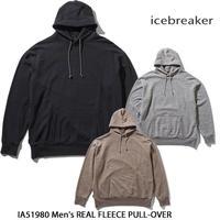 Icebreaker アイスブレーカー M REAL FLEECE PULL-OVER IA51980 メンズ リアルフリース プルオーバー  メリノウール フーディ 長袖 アウトドア