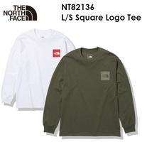 The North Face ノースフェイス L/S Square Logo Tee NT82136 ロングスリーブ スクエア ロゴ ティー メンズ  ザ・ノース・フェイス メール便発送