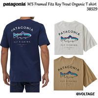 パタゴニア patagonia M'S Framed Fitz Roy Trout Organic T shirt 38529 メンズ・フレームド・フィッツロイ・トラウト・オーガニック・Tシャツ