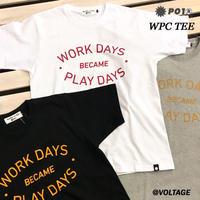 PO1 PLAY DESIGN プレイデザイン WPC TEE 半袖 Tシャツ WHITE ASH BLACK アウトドア キャンプ PLAYDESIGN