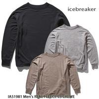 Icebreaker アイスブレーカー REAL FLEECE LS CREWE  IA51981 メンズ リアルフリース ロングスリーブ クルー メリノウール 長袖 アウトドア