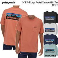 パタゴニア patagonia M'S P-6 Logo Pocket Responsibili Tee 38512 メンズ・P-6ロゴ・ポケット・レスポンシビリティー ポケット付き!