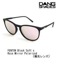 DANG SHADES ダンシェイディーズ FENTON Black Soft x Rose Mirror Polarized(偏光レンズ)サングラス ダン・シェイディーズ vidg00336-1