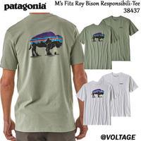 パタゴニア patagonia M's Fitz Roy Bison Responsibili-Tee 38437 メンズ・フィッツロイ・バイソン・レスポンシビリティー 正規品 2019 春モデル