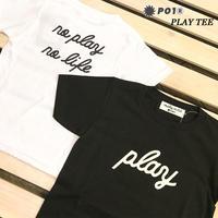 PO1 PLAY DESIGN プレイデザイン PLAY KIDS TEE 子供用 キッズ 半袖 Tシャツ BLACK WHITE アウトドア キャンプ PLAYDESIGN