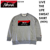 NANGA ナンガ LIVE THE LIFE SWEAT SHIRT MEN リブ ザ ライフ スウェット シャツ メンズ NANGA DOWN WEAR 2021 AUTUMN/WINTER