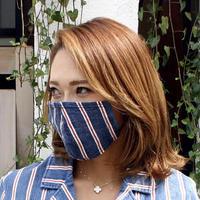 広島産 ストライプデニムマスク