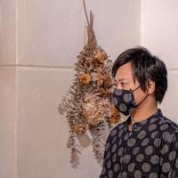 オリジナルデニムマスク(ドット柄)