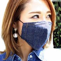 広島産 綿麻デニムマスク
