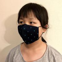 キッズサイズ 広島産 ドットデニムマスク