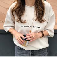 シンプルロゴTシャツ(ベージュ)