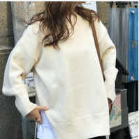 simple over knit(off white)