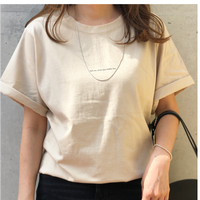 Basic logo t-shirts(beige)
