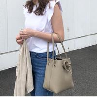 Leather bag (グレージュ)
