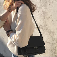 予約販売 leather box bag(black)