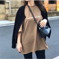 シンプルロゴTシャツ(ブラウン)