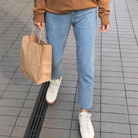 straight fit ankle denim〈ライトブルー〉