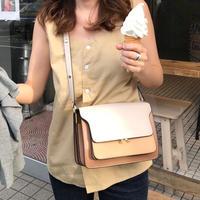 《再販》leather box bag (camel)