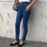 high waist skinny denim《blue》