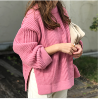 volume slit knit(pink)