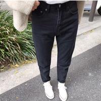 high waist mom jeans(black )