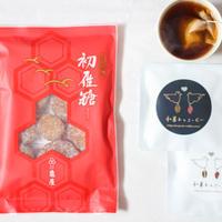 初雁糖(芋納豆)と和菓子コーヒー