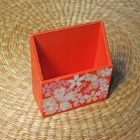 桜の携帯ホルダー(オレンジ)