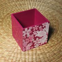 桜のペン立て(パープル)