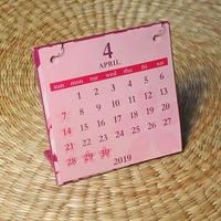 桜カレンダー 4月はじまり[2019.4~2020.3](パープル)