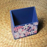 桜の携帯ホルダー(ブルー)