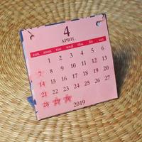 桜カレンダー 4月はじまり[2019.4~2020.3](ブルー)