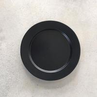 亀田文 5寸ショートリム皿 ブラック