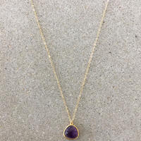14kgf  hand made necklace(amethyst)