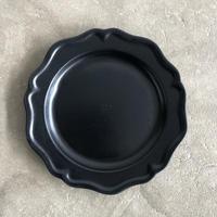 亀田文 7寸ピューターリム皿 ブラック