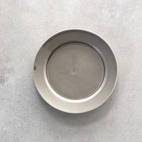 亀田文 5寸ショートリム皿 ススグレー