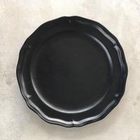 亀田文 8寸ピューターリム皿 ブラック