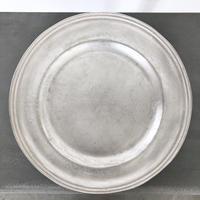 亀田文 銀磁9.5寸リム皿