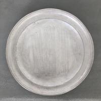 亀田文 銀磁7.5寸リム皿