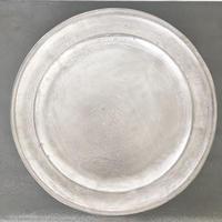 亀田文 銀磁8.5寸リム皿
